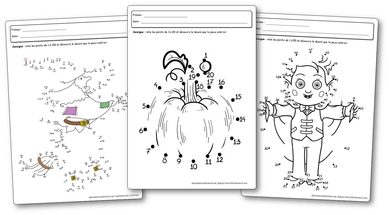 Jeux De Points À Relier Pour Halloween - Points À Relier avec Jeux De Maternelle À Imprimer