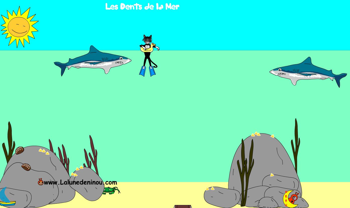 Jeux De Requins - Jeux Pour Enfants Sur Lalunedeninou - encequiconcerne Jeux Enfant Gratuit En Ligne