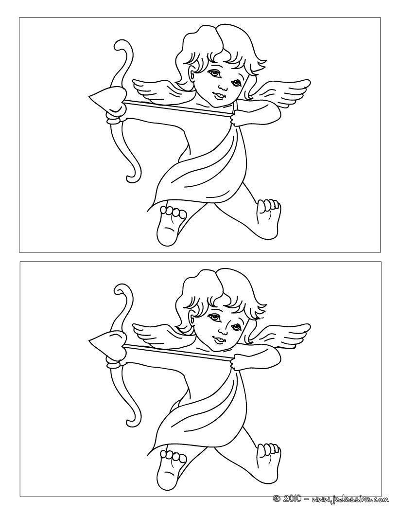 Jeux Des 12 Différences Cupidon | Coloriage Mariage, Cupidon concernant Jeux De Différence