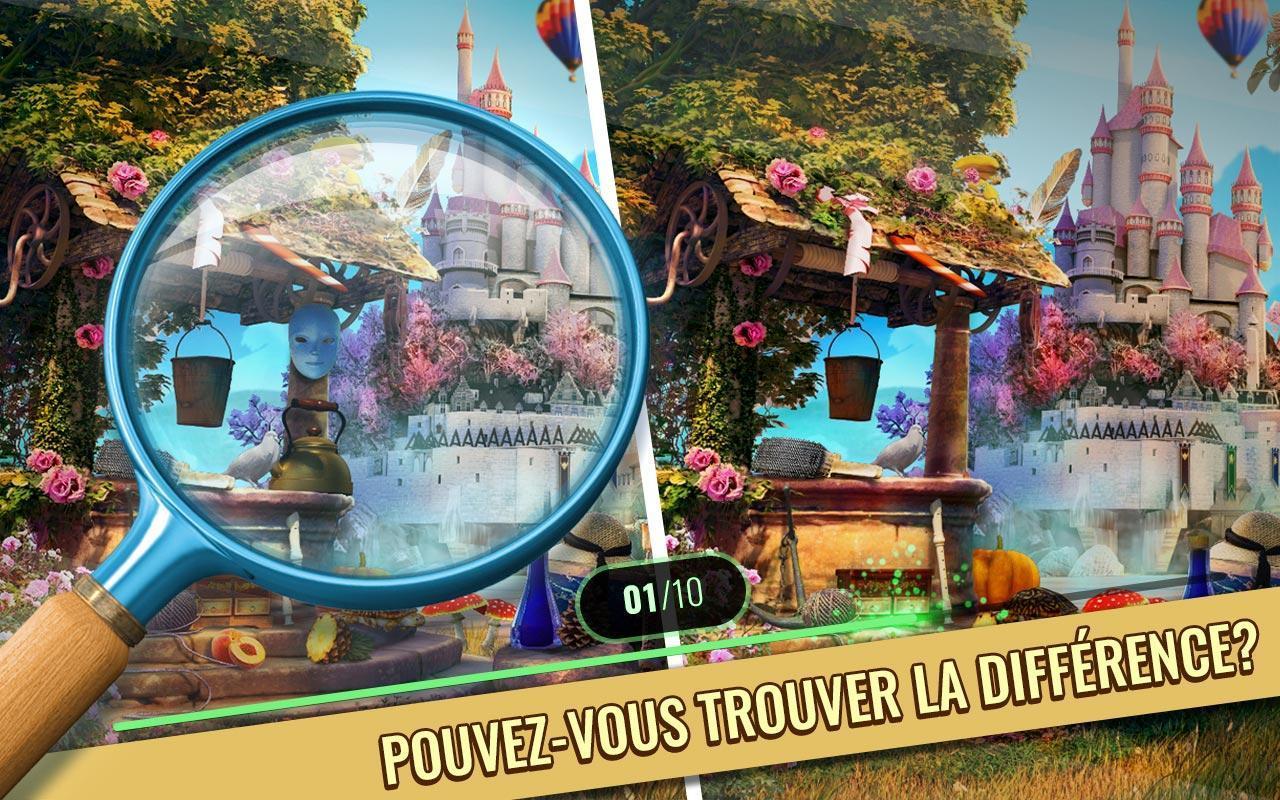 Jeux Des Differences Gratuit - Château Enchanté Pour Android dedans Jeux De Différence