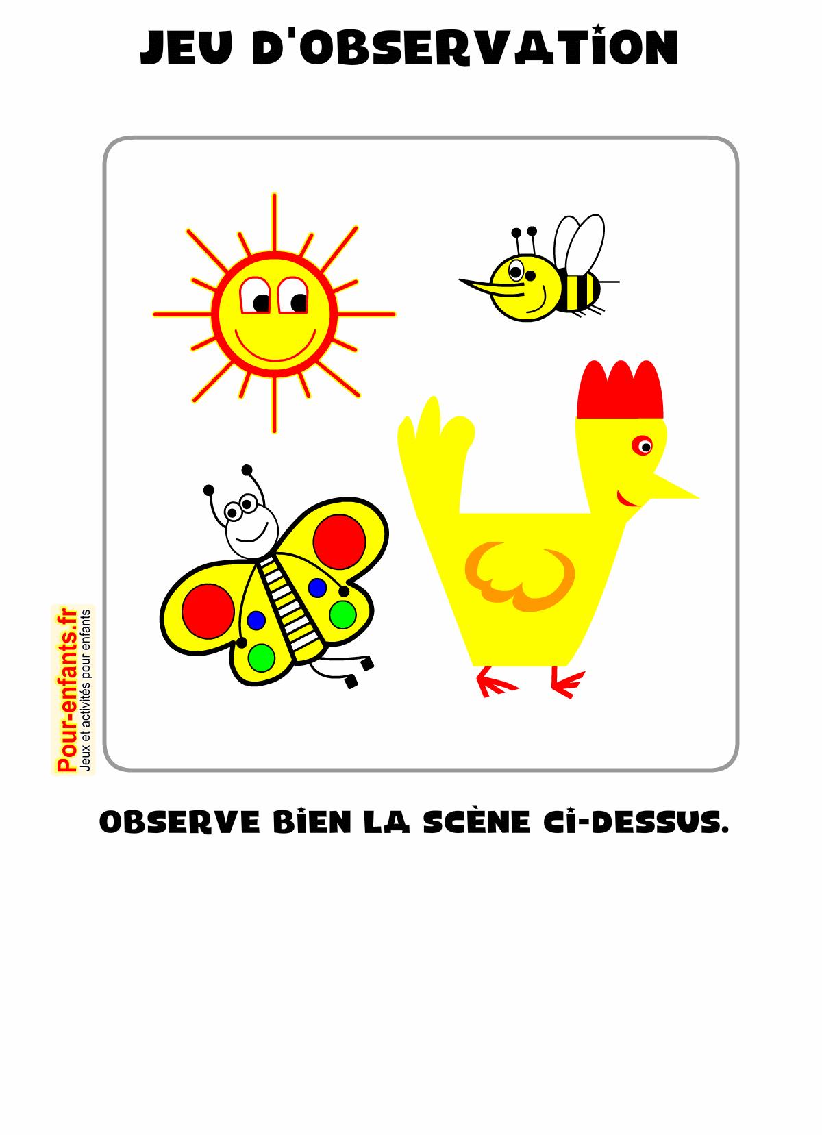 Jeux D'observation À Imprimer Maternelle Ps Ms Gs Pour tout Jeux Enfant Maternelle