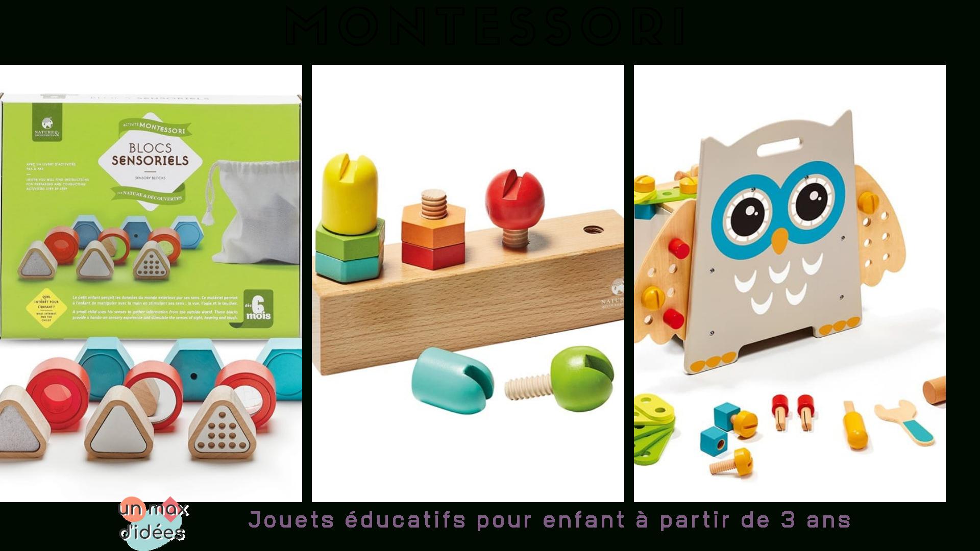 Jeux Montessori Pour Éveiller La Curiosité Des Enfants - Un avec Jeux Educatif 4 Ans