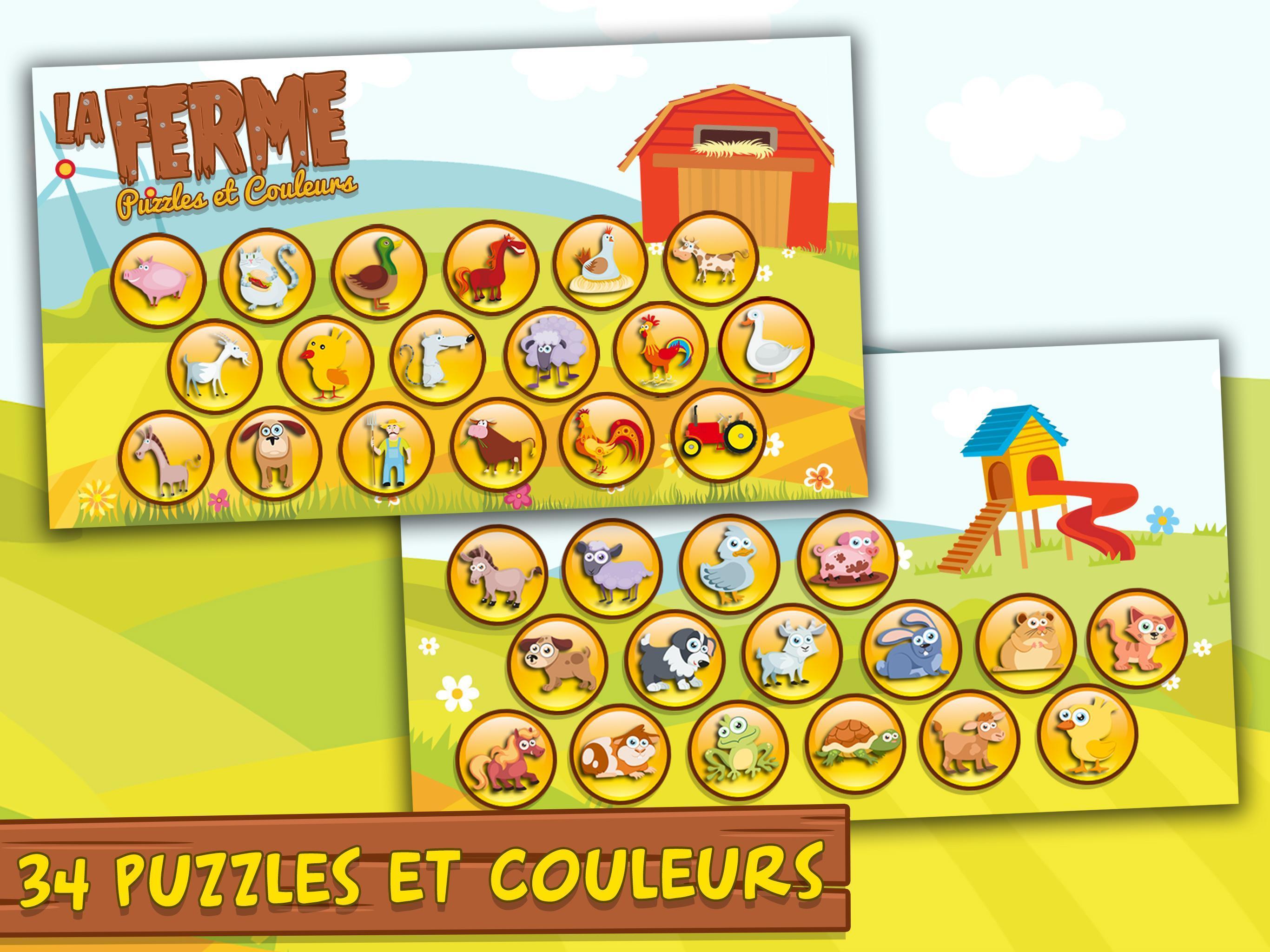 Jeux Pour Enfants Et Bebe 3+ Ans Gratuit: Ferme Pour Android intérieur Jeux Pour Enfant De 3 Ans
