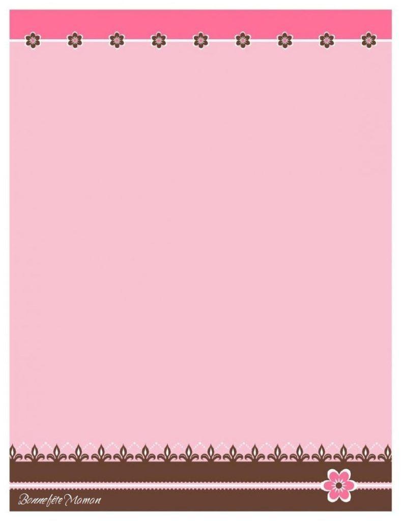 Joli Papier À Lettre Gratuit À Imprimer Pour La Fête Des Mères - intérieur Carte Bonne Fete Maman A Imprimer