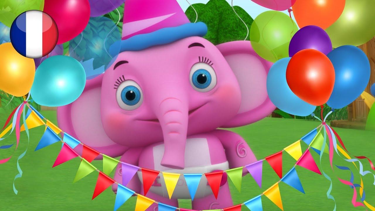 Joyeux Anniversaire | Comptines | Dessin Animé Francais | Comptine Little  Treehouse | Happy Birthday pour Chanson Pour Bebe 1 An