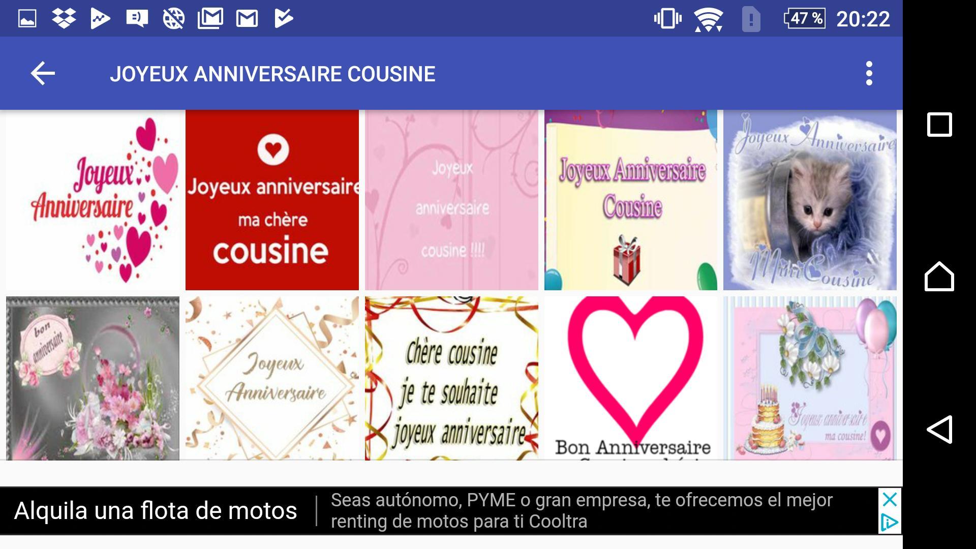 Joyeux Anniversaire Cousine For Android - Apk Download à Comment Souhaiter Un Joyeux Anniversaire En Anglais