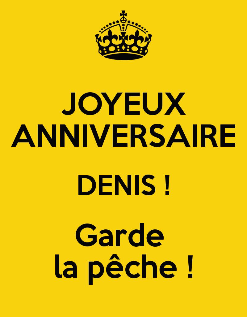 Joyeux Anniversaire Denis ! Garde La Pêche ! Poster | Magali concernant Bon Anniversaire Humour Video