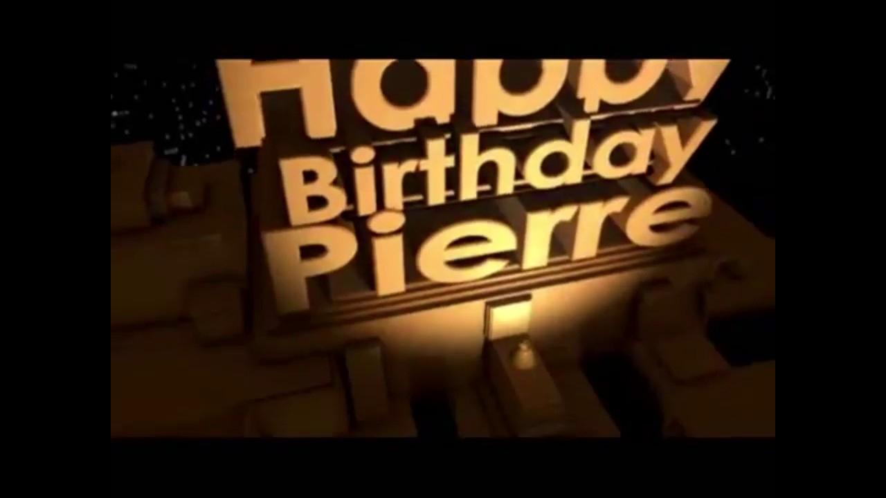Joyeux Anniversaire Pierre serapportantà Bon Anniversaire Humour Video