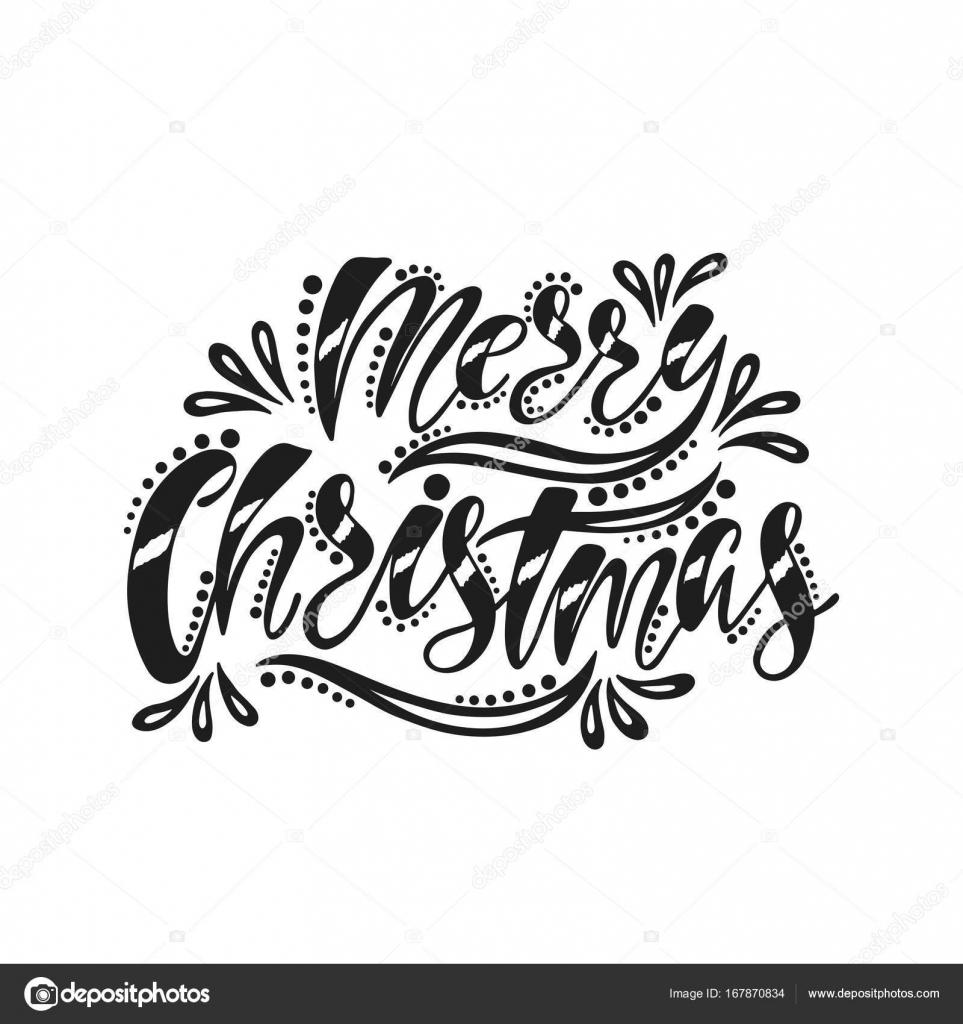 Joyeux Noël. Inscription De L'écriture Manuscrite — Image avec Police Ecriture Noel