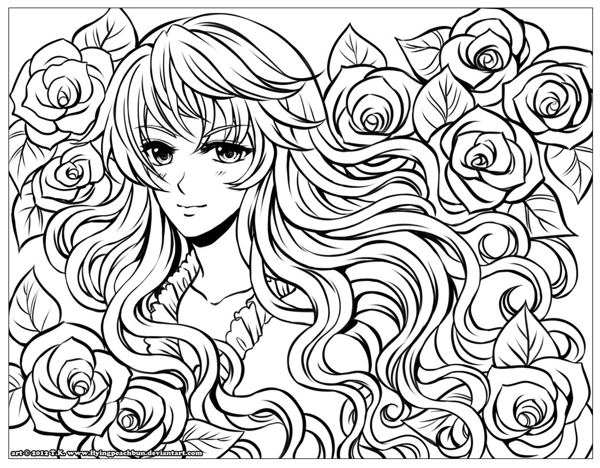 Justcolor Manga 5 - Coloriages De Mangas Et D'animes - 100 tout Coloriage Manga Kawaii