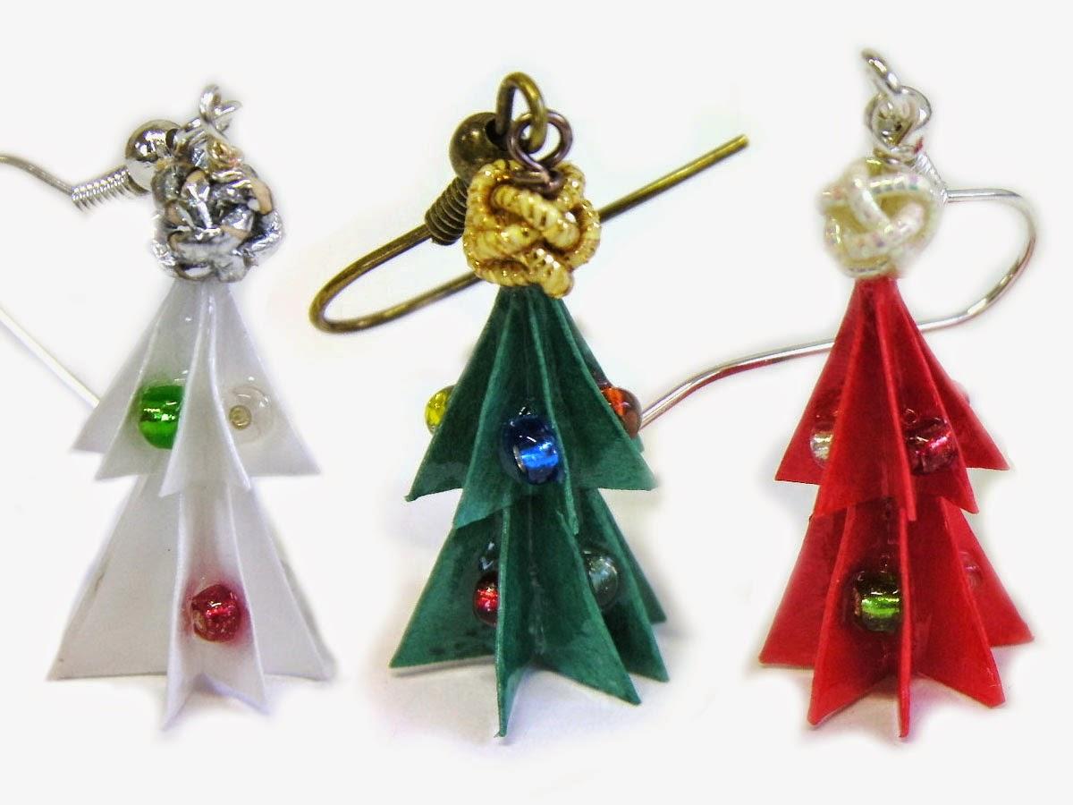 Kami-Art : Création En Papier Japonais Et Mizuhiki: Boucles tout Origami Sapin De Noel