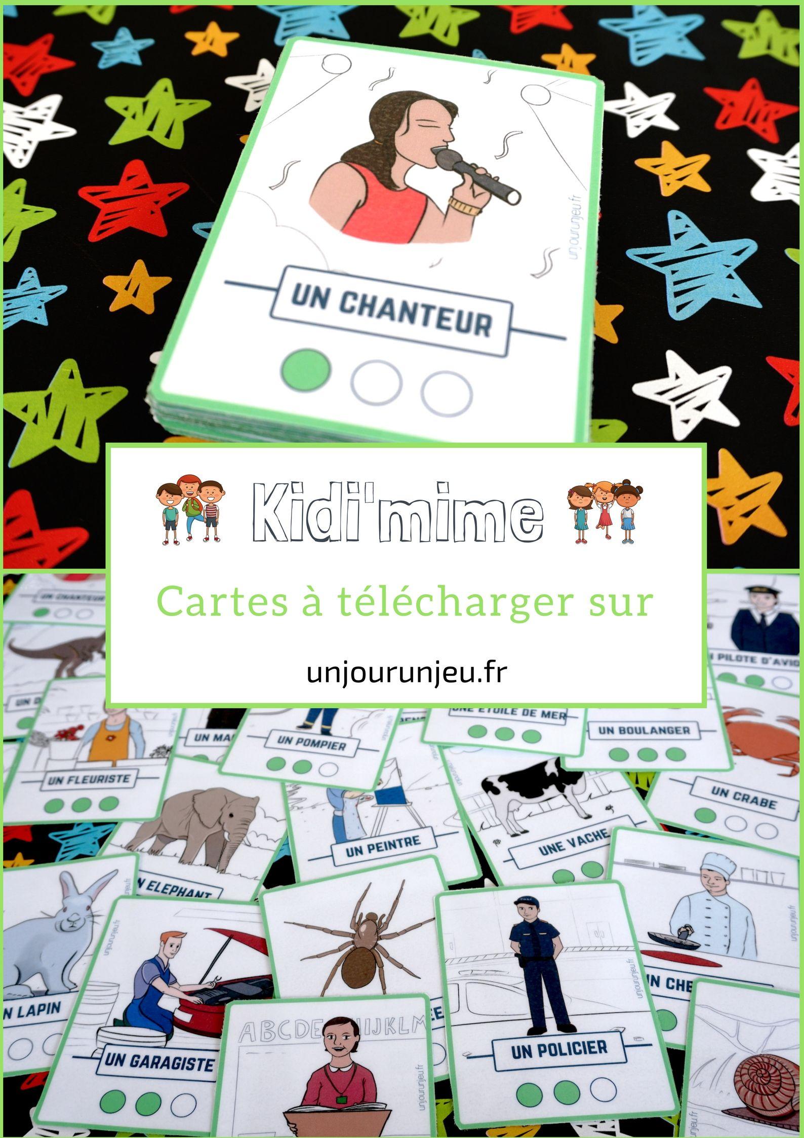 Kidi'mime : Un Jeu De Mimes Et D'action À Imprimer pour Jeux Facile Pour Petit Gratuit