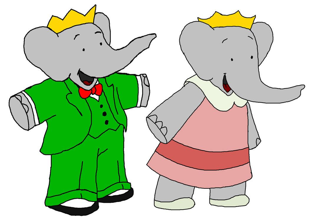 King Babar And Queen Celeste - Kids By Kingleonlionheart concernant Singe De Babar