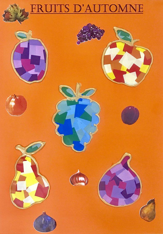 Kit Bricolage Fruits D'automne En Gommettes intérieur Caractéristiques De L Automne
