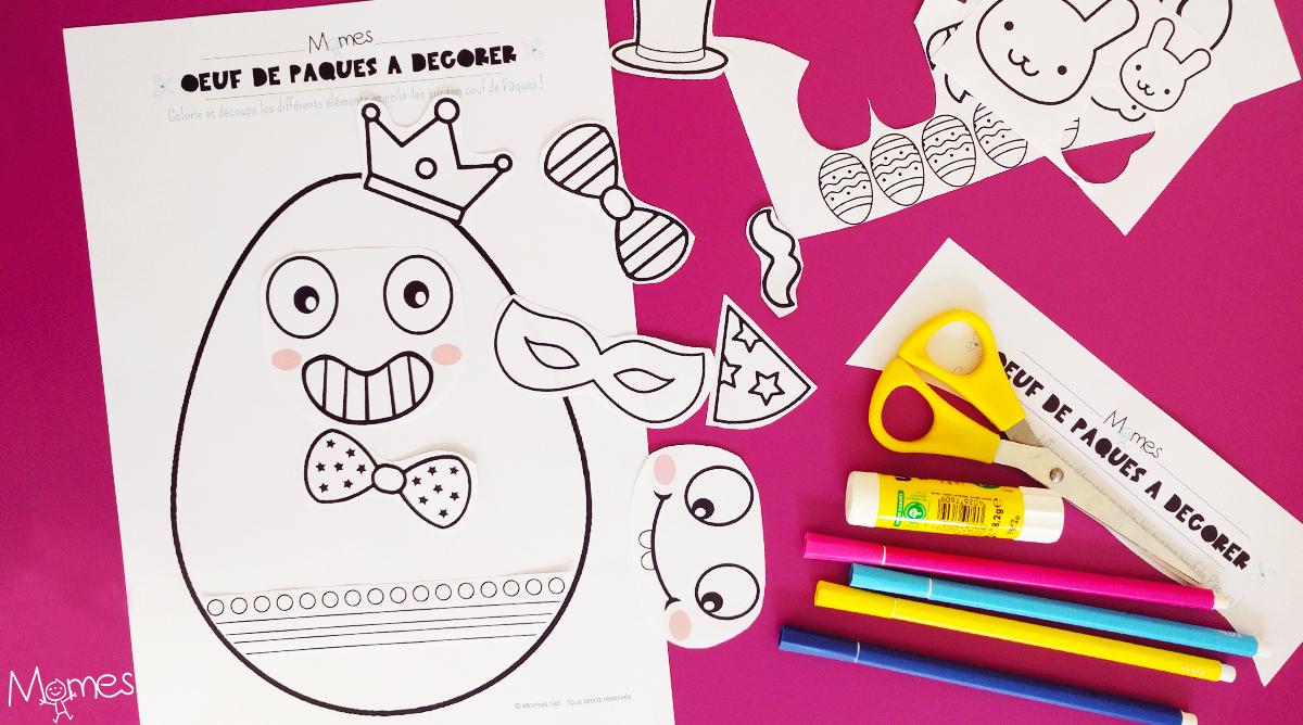 Kit De Décoration Oeuf De Pâques À Imprimer - Momes avec Découpage Collage Maternelle À Imprimer