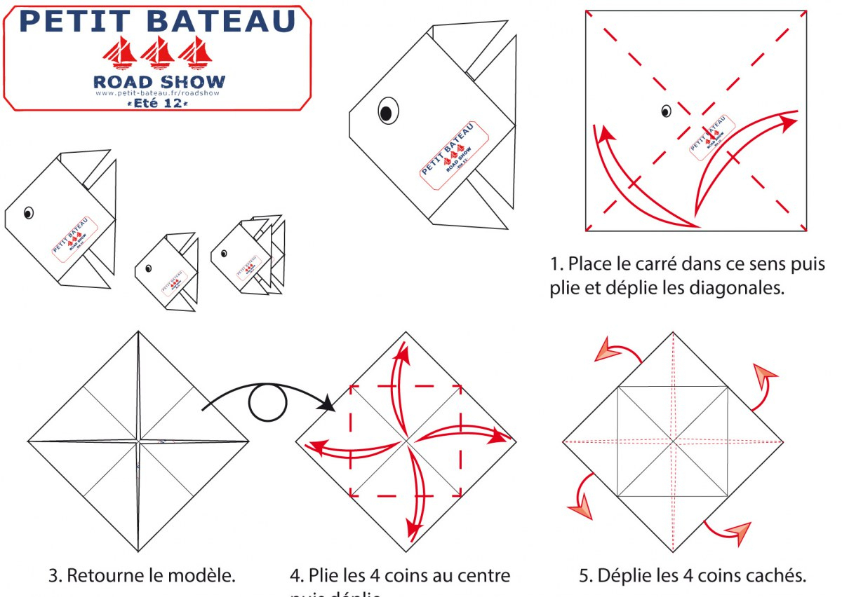 Kit Origami destiné Origami Petit Bateau