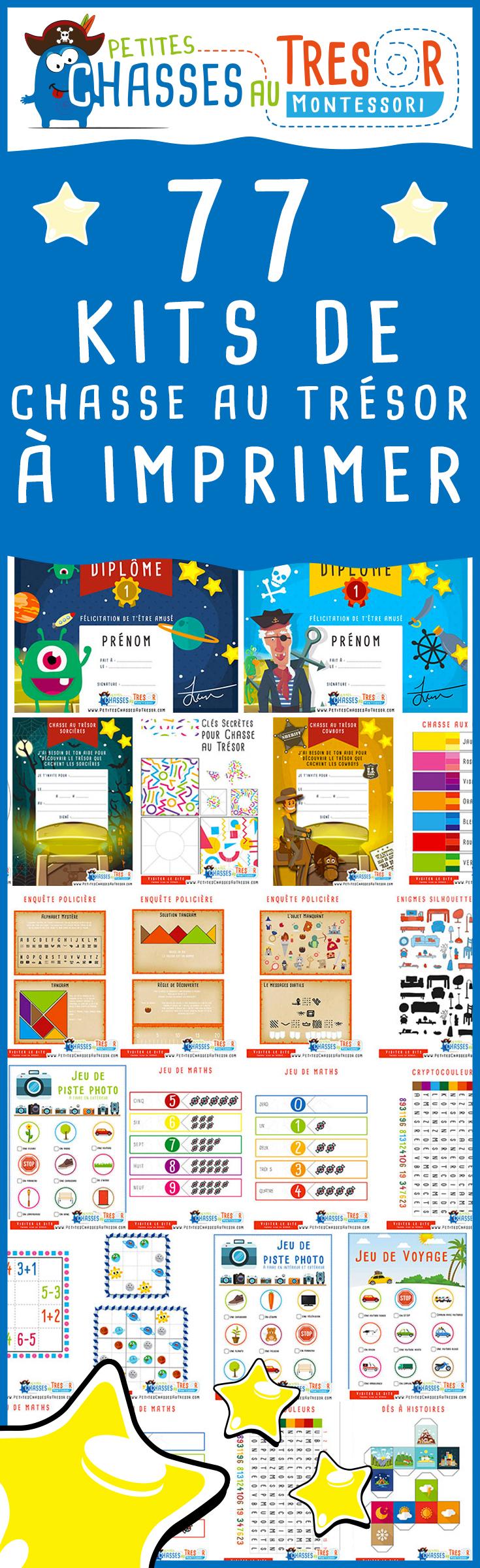 Kits Chasse Au Trésor Pour Enfants À Imprimer Gratuitement destiné Activité Chasse Au Trésor