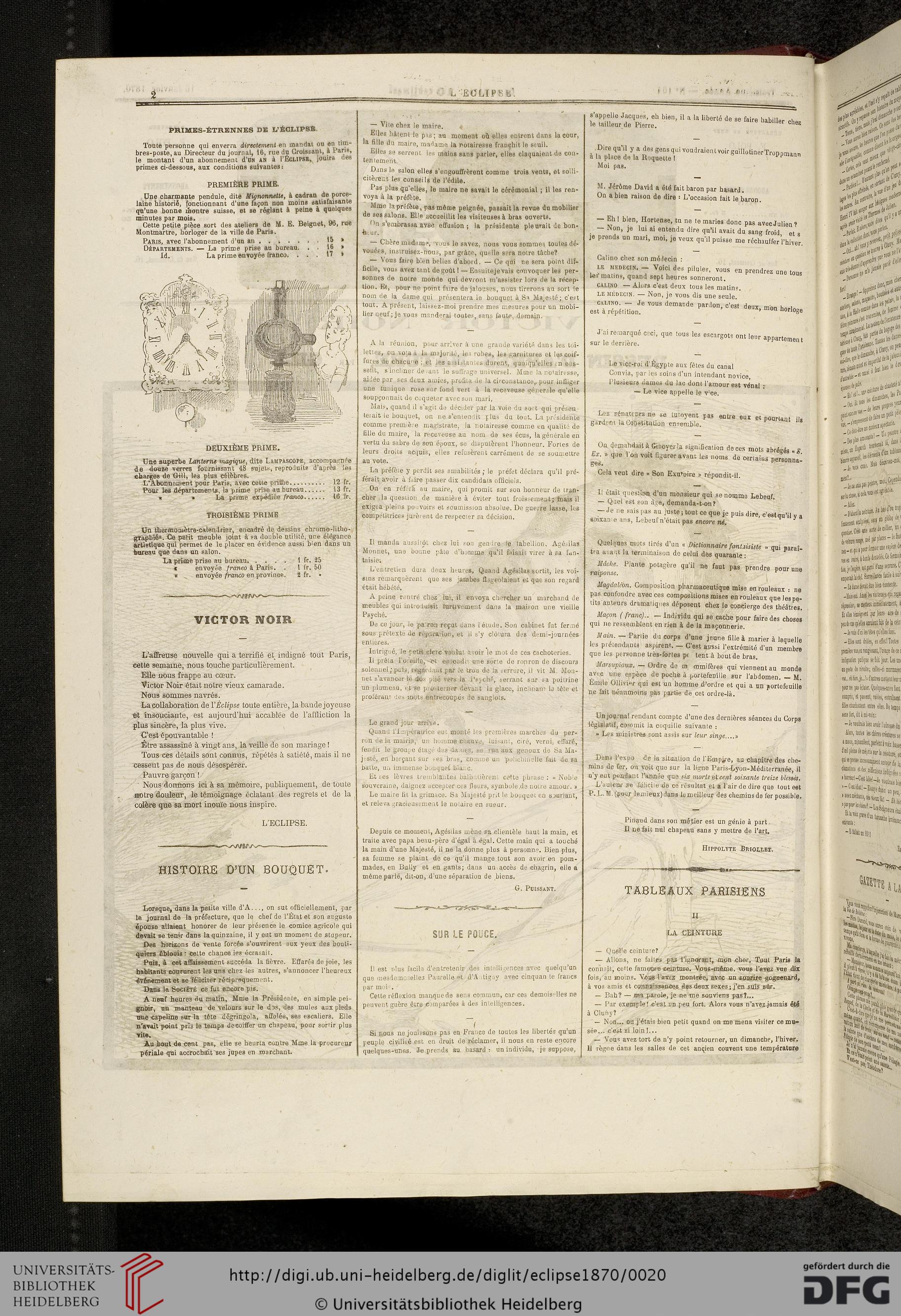 L' Eclipse: Journal Hebdomadaire Politique, Satirique Et concernant Le Petit Ogre Qui Voulait Apprendre À Lire