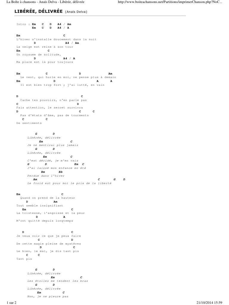 La Boîte À Chansons Anaïs Delva Libérée, Délivrée - Fichier Pdf destiné Dans La Nuit De L Hiver Chanson