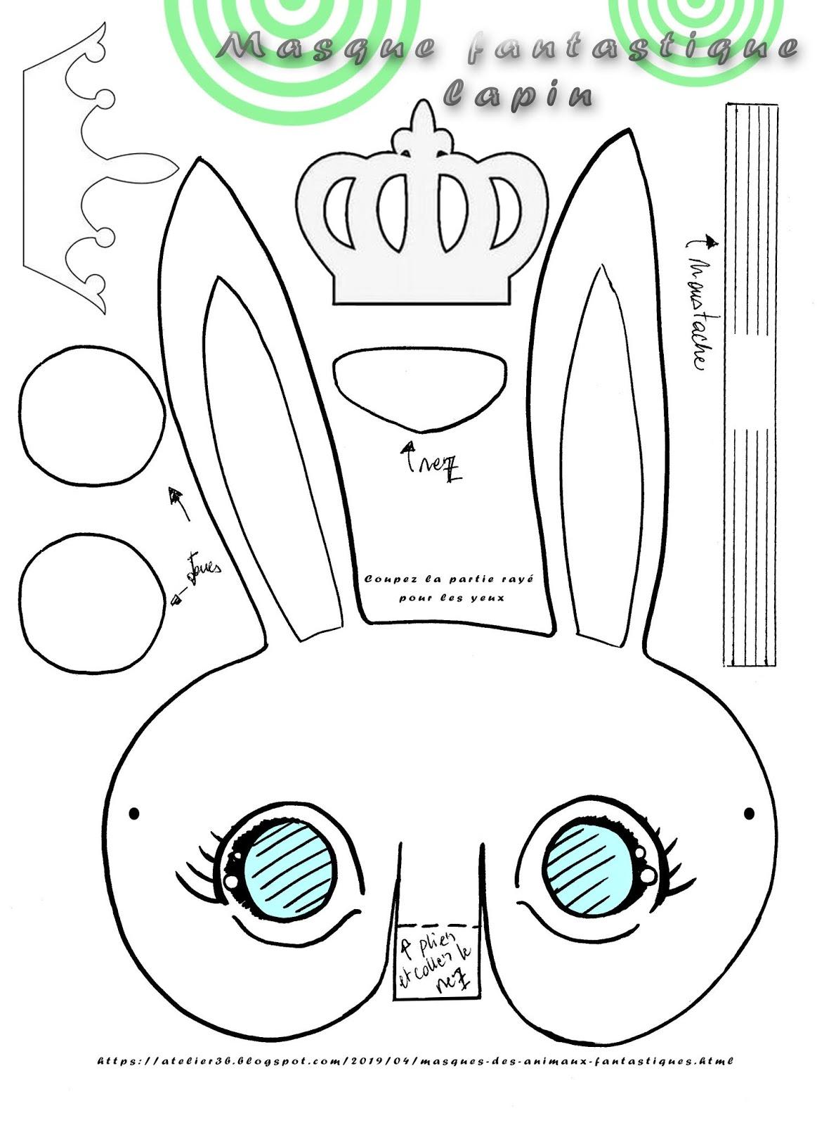 La Boite À Idées De L' Atelier 3B* * *: Masques Des Animaux concernant Masque Canard À Imprimer