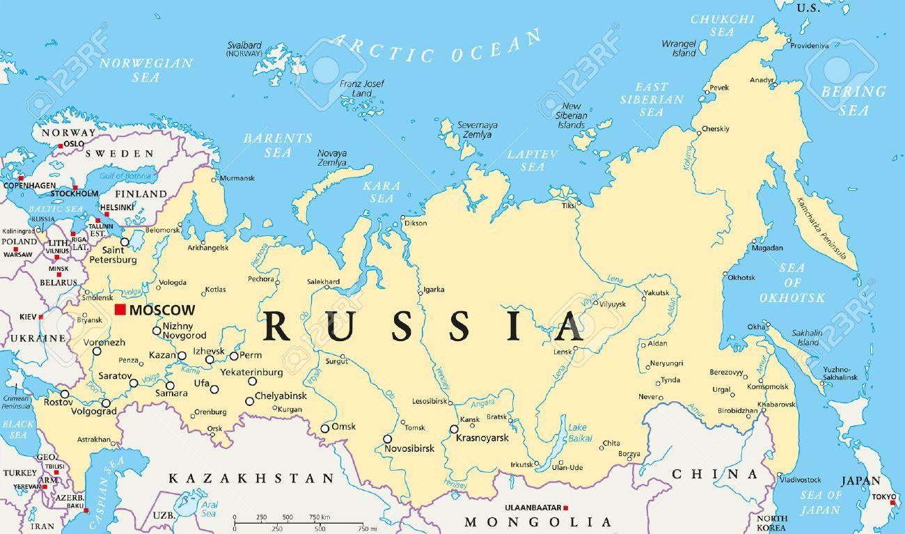 La Capitale De La Russie La Carte - Russie Capital De La à Carte Europe Capitale