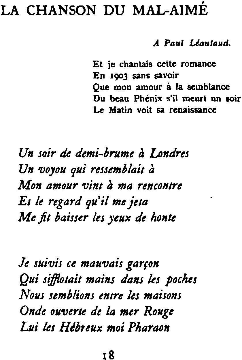La Chanson Du Mal-Aimé — Wikipédia encequiconcerne Chanson A Imprimer