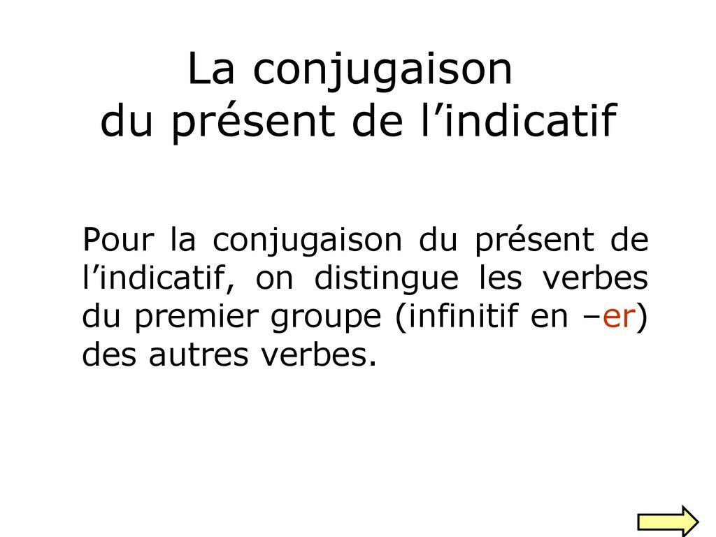 La Conjugaison Du Présent De L'indicatif - Презентация Онлайн destiné Dormir Au Présent De L Indicatif
