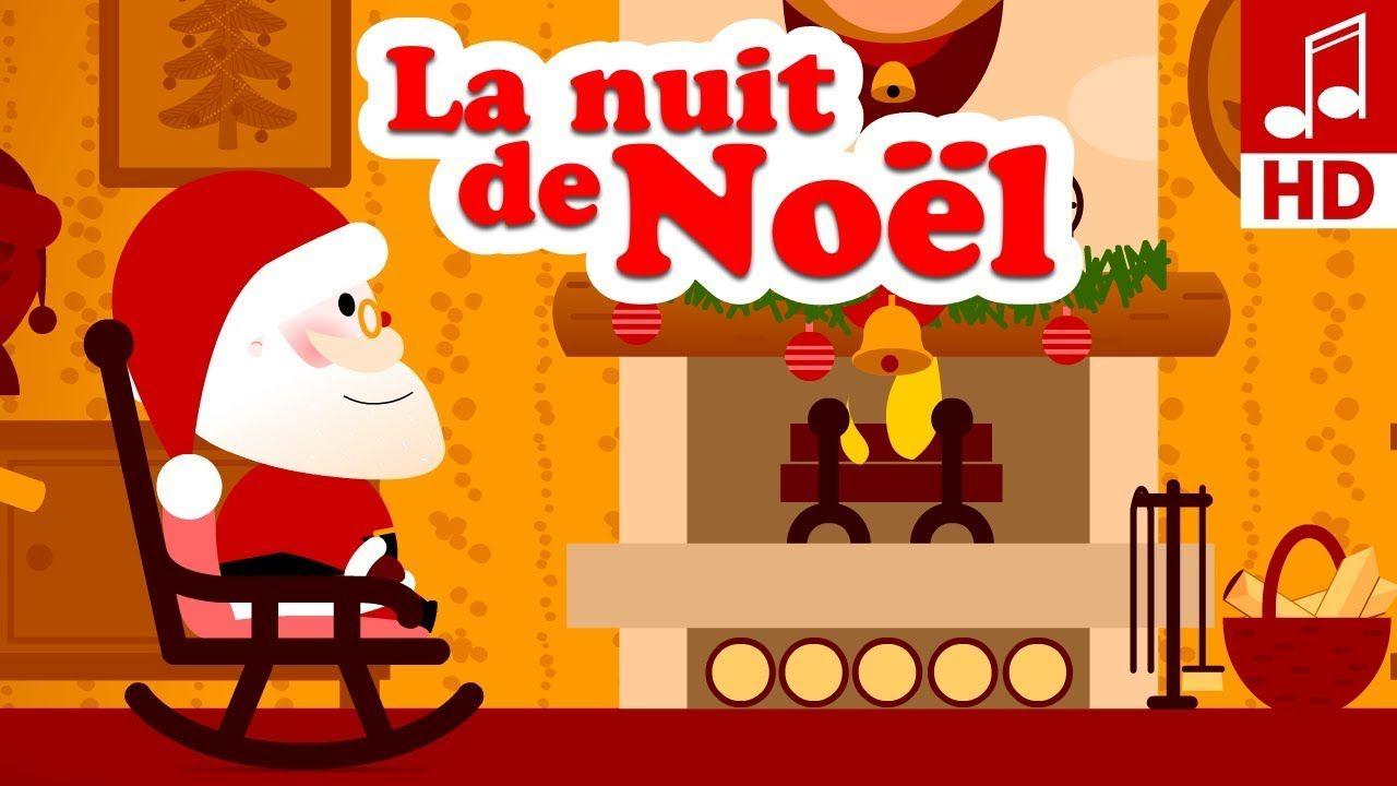 La Douce Nuit De Noel Chanson De Noël En Français & Comptine pour Chanson Dans Son Manteau Rouge Et Blanc