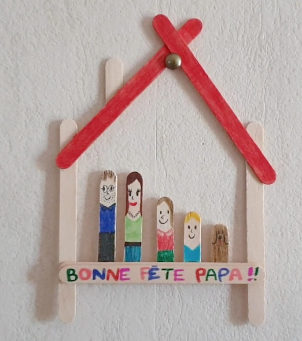 La Famille En Bâtons De Bois Pour La Fête Des Pères [Video] avec Bricolage Avec Baton De Bois
