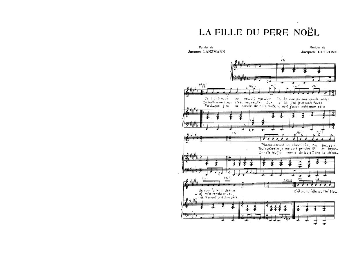 La Fille Du Père Noël (Partition - Sheet Music) - The Strombolis concernant Musique Du Père Noël