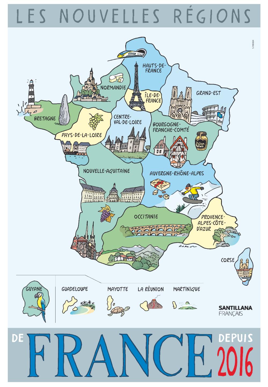 La France Fiches Pédagogiques intérieur Carte De France Pour Les Enfants