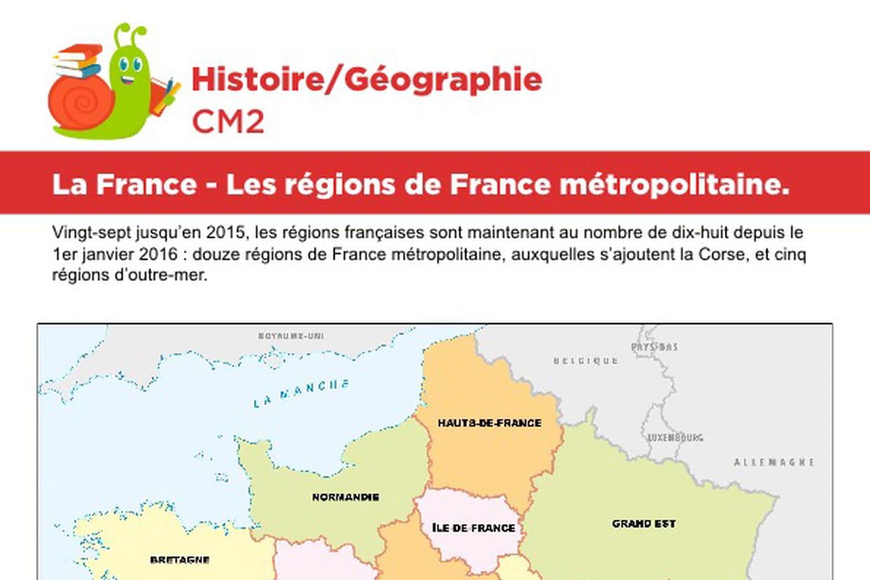 La France, Les Régions De France Métropolitaine à Carte De France Avec Département À Imprimer