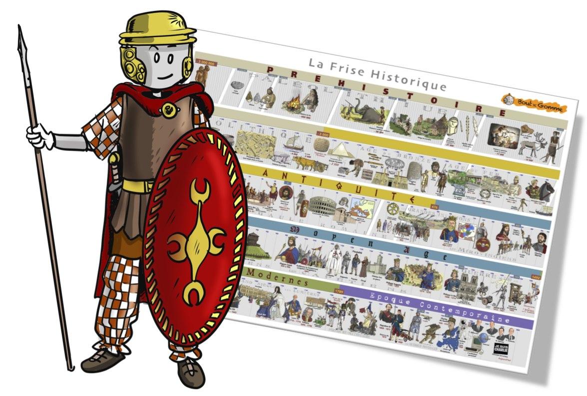 La Frise Historique Bout De Gomme | Bout De Gomme pour Frise Chronologique Vierge Ce1