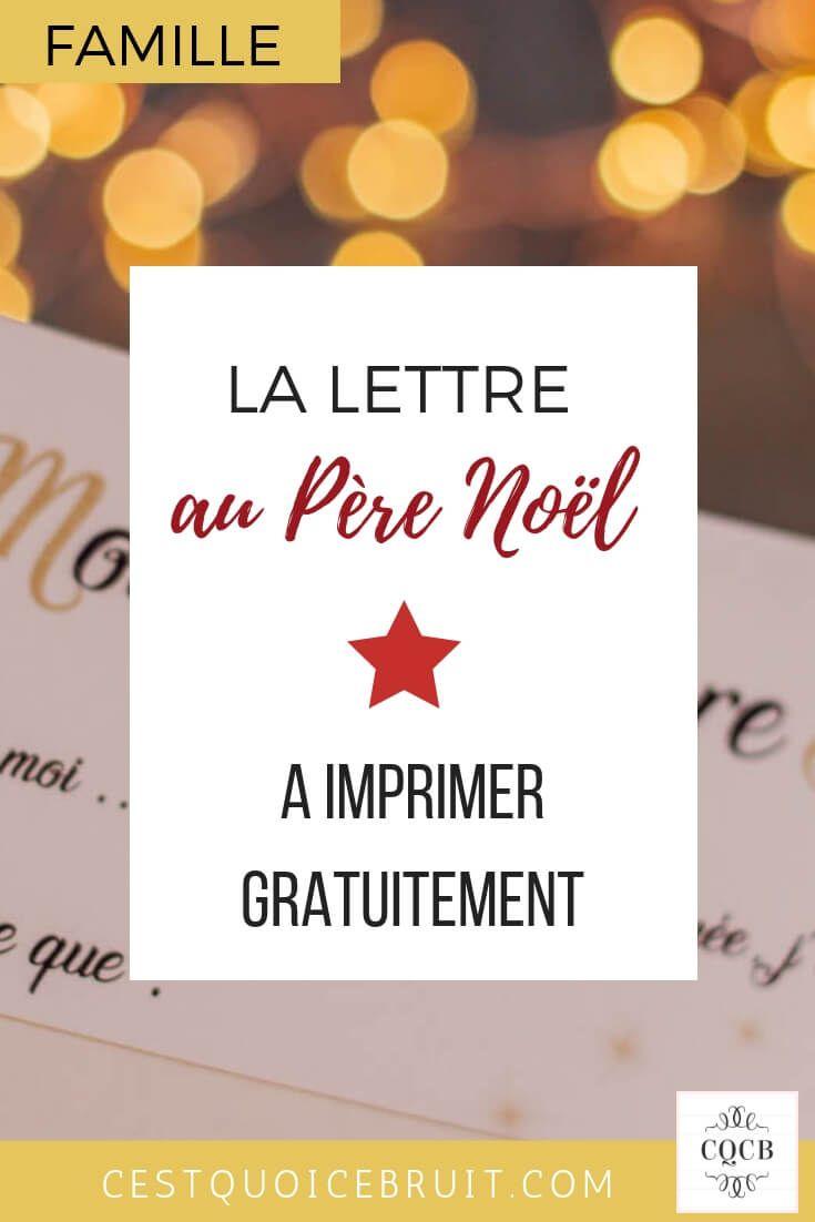 La Lettre Au Père Noël À Imprimer | Pere Noel A Imprimer serapportantà Liste Pere Noel Imprimer