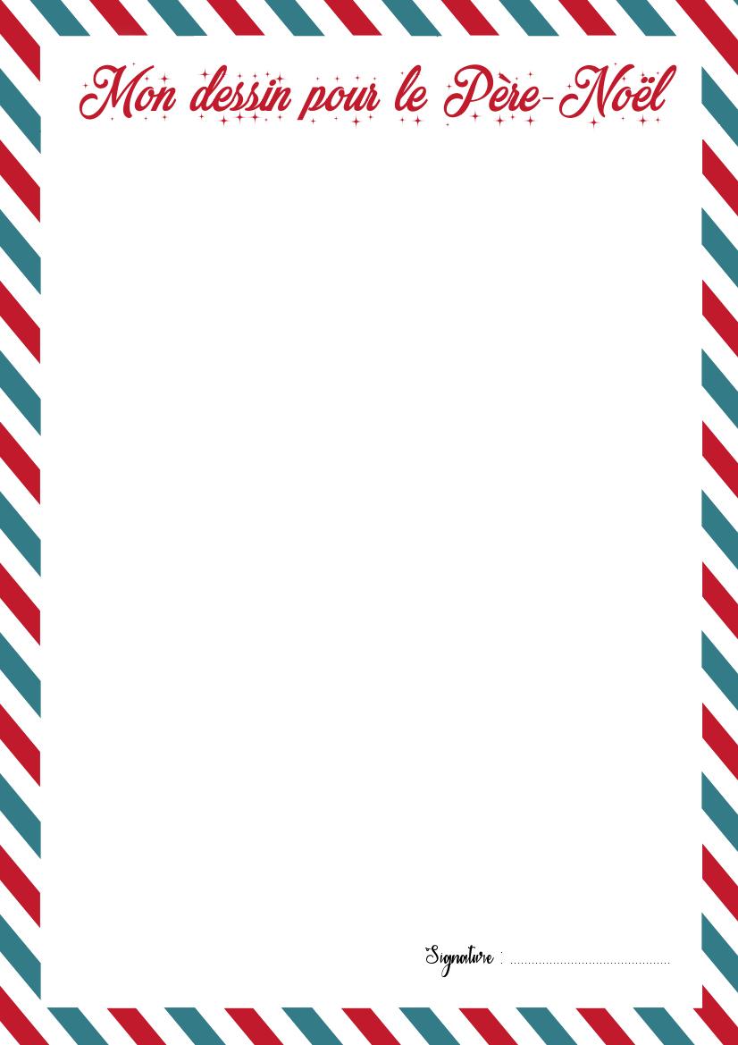 La Lettre Au Père-Noël Et Son Enveloppe À Imprimer - La pour Liste Pere Noel Imprimer