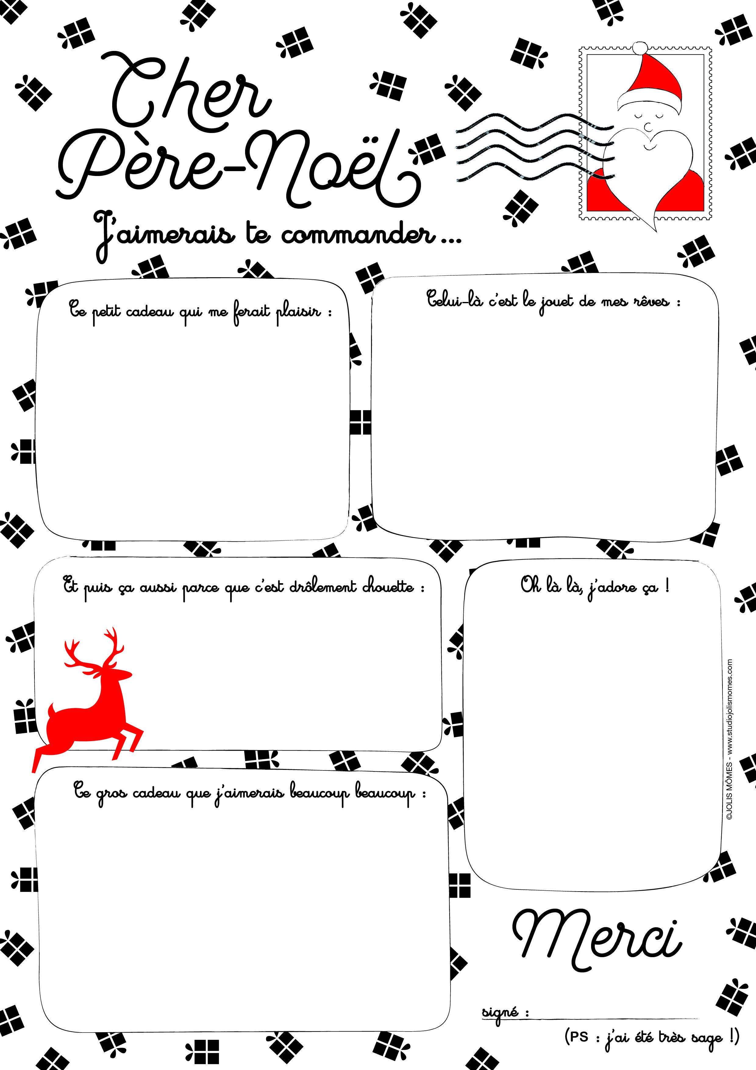 La Lettre Au Père-Noël (Free-Printable) | Lettre Pere Noel serapportantà Liste Pere Noel Imprimer