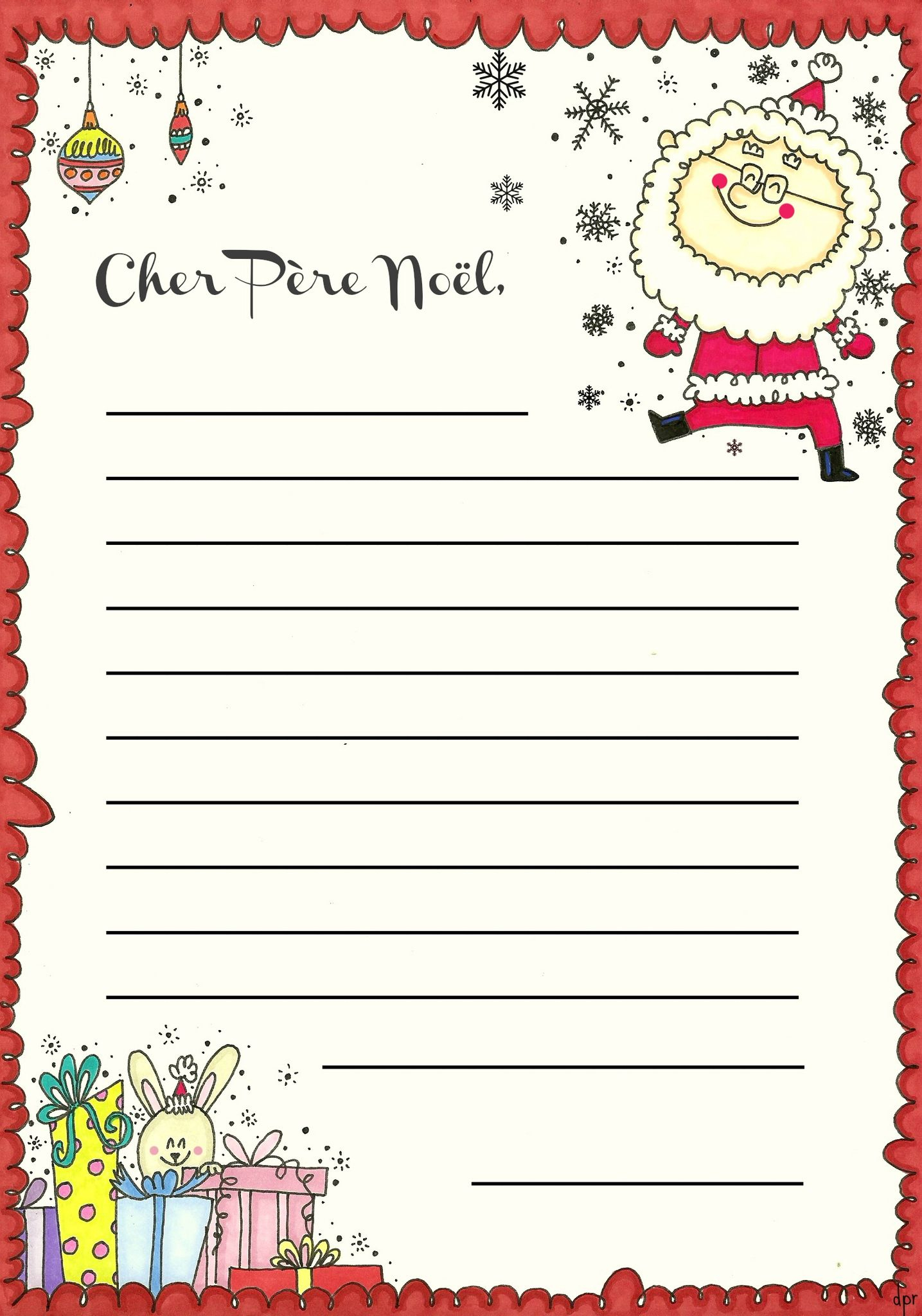 La Lettre Au Père Nöel(À Imprimer) - Des P'tits Riens encequiconcerne Reponse Lettre Du Pere Noel A Imprimer