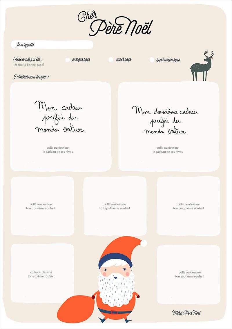 La Liste Au Père Noël #free Download | Lettre Pere Noel concernant Liste Pere Noel Imprimer