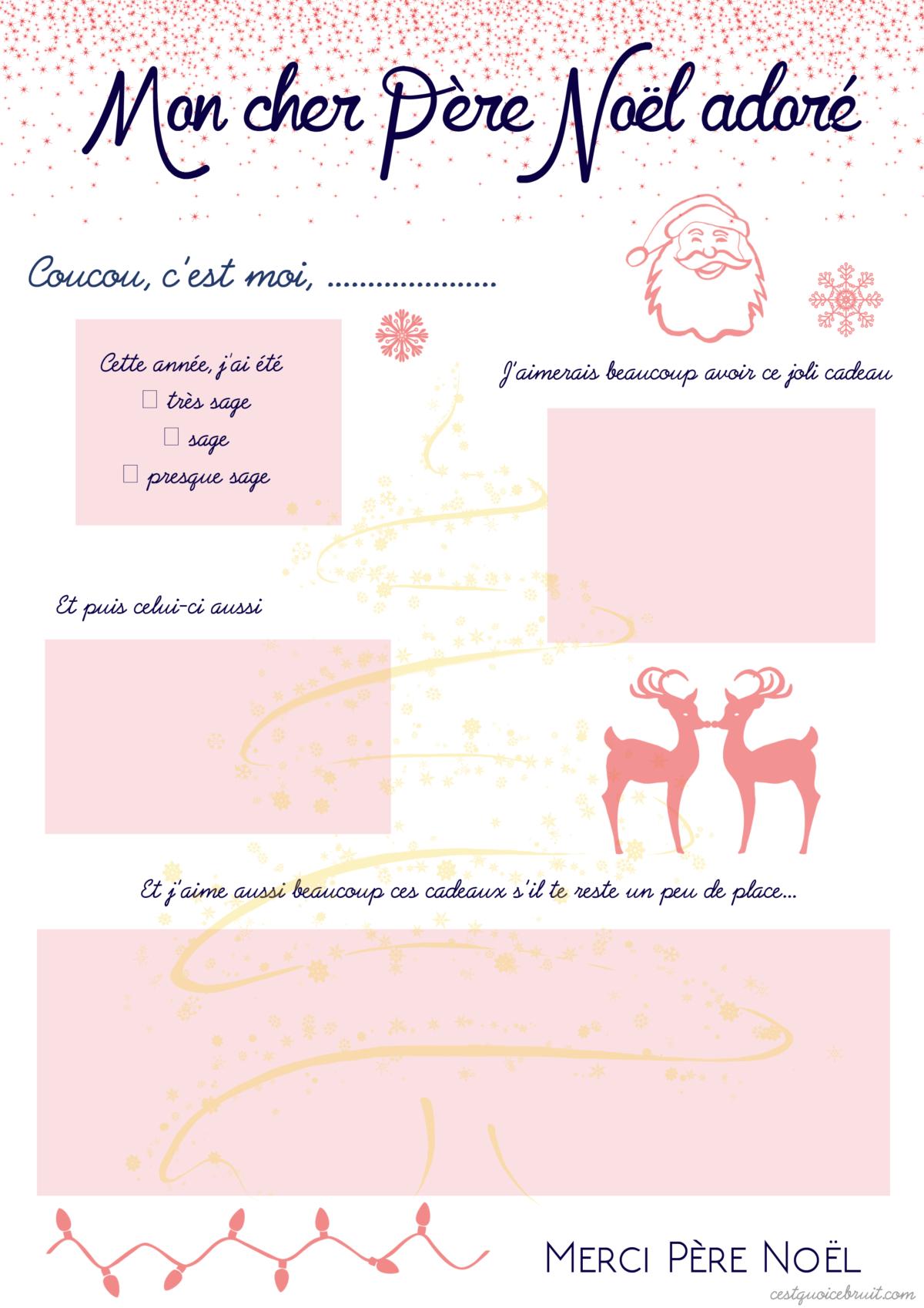La Liste De Noël À Imprimer (Free Printable) dedans Liste Pere Noel Imprimer
