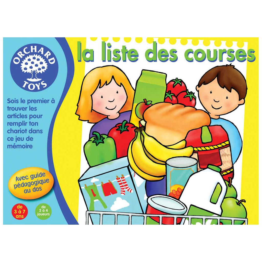La Liste Des Courses avec Jeux De Memoire Enfant