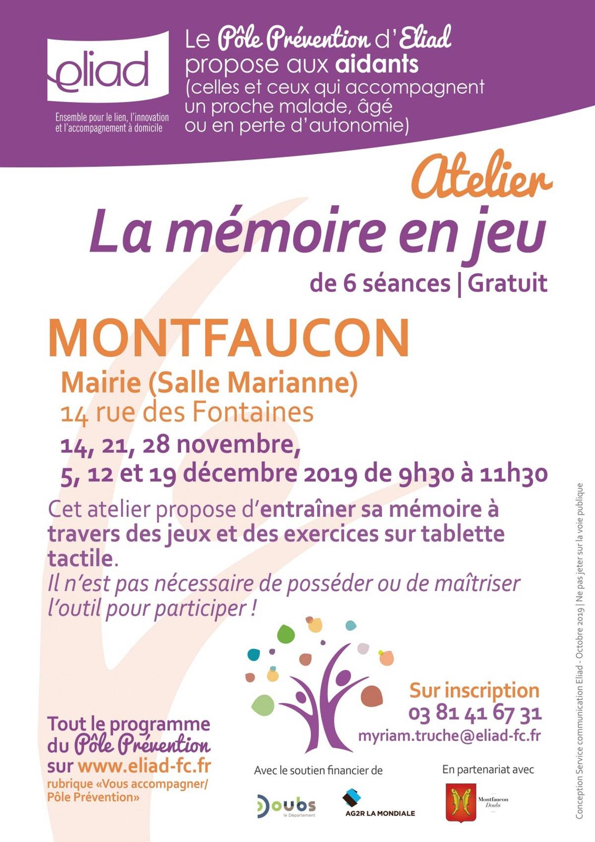 La Memoire En Jeu» : Rencontre, Conference A Montfaucon encequiconcerne Jeu De Memoire Gratuit