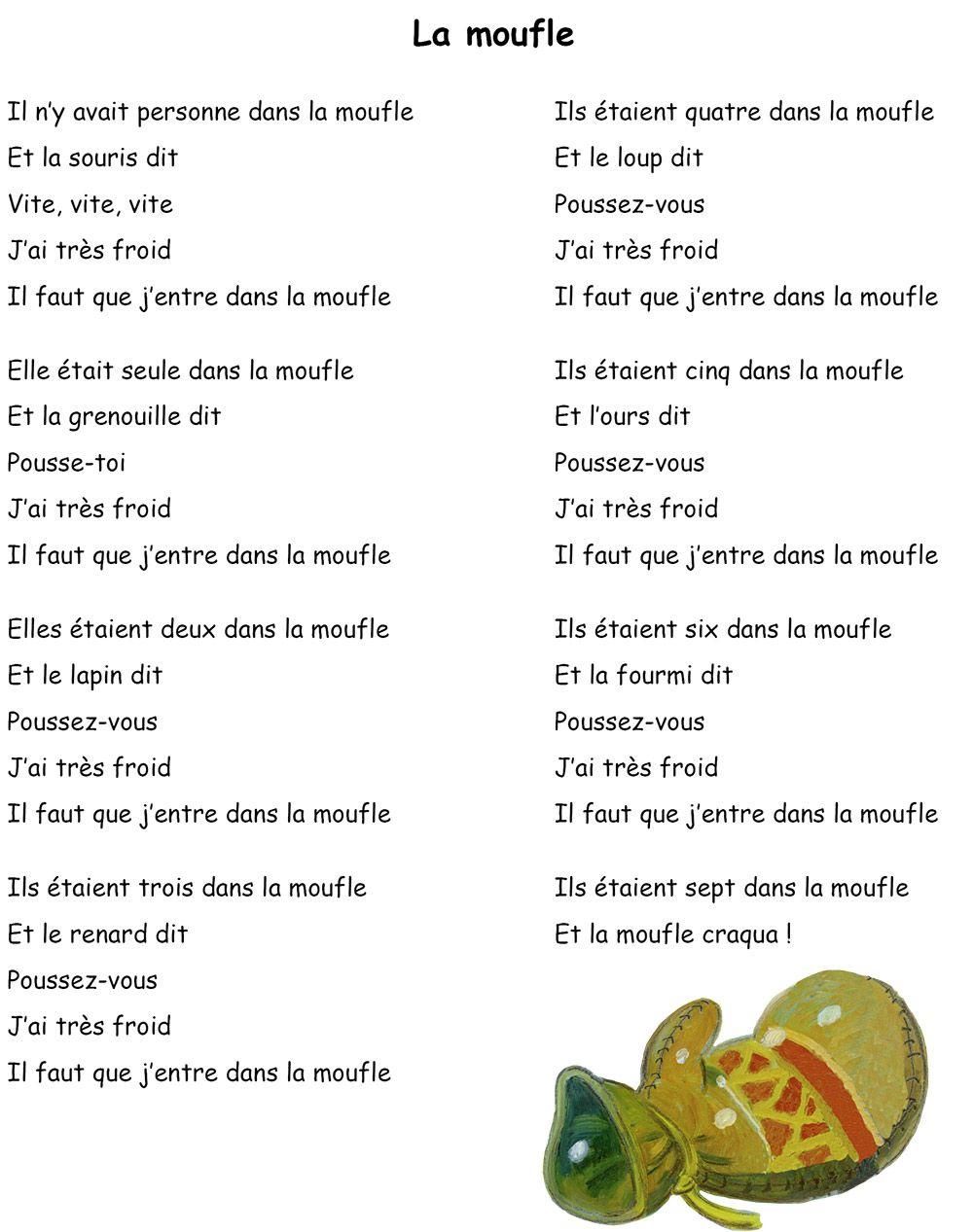 La Moufle - Robert Giraud - Éd° Père Castor (Avec Images pour Dans La Nuit De L Hiver Chanson