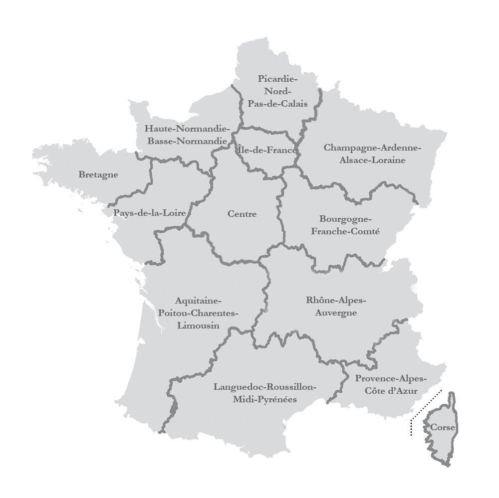 La Nouvelle Carte Des Régions Adoptée Par L'assemblée concernant Nouvelle Carte Des Régions De France