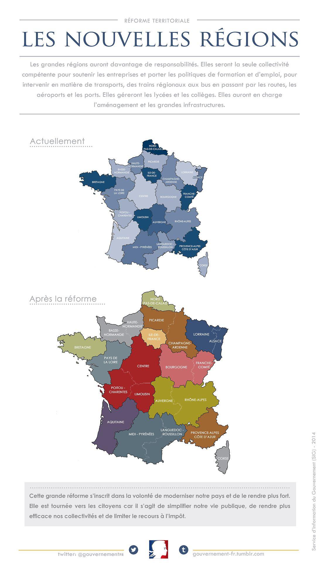 La Nouvelle Carte Des Régions De La France Métropolitaine destiné Nouvelle Carte Des Régions De France