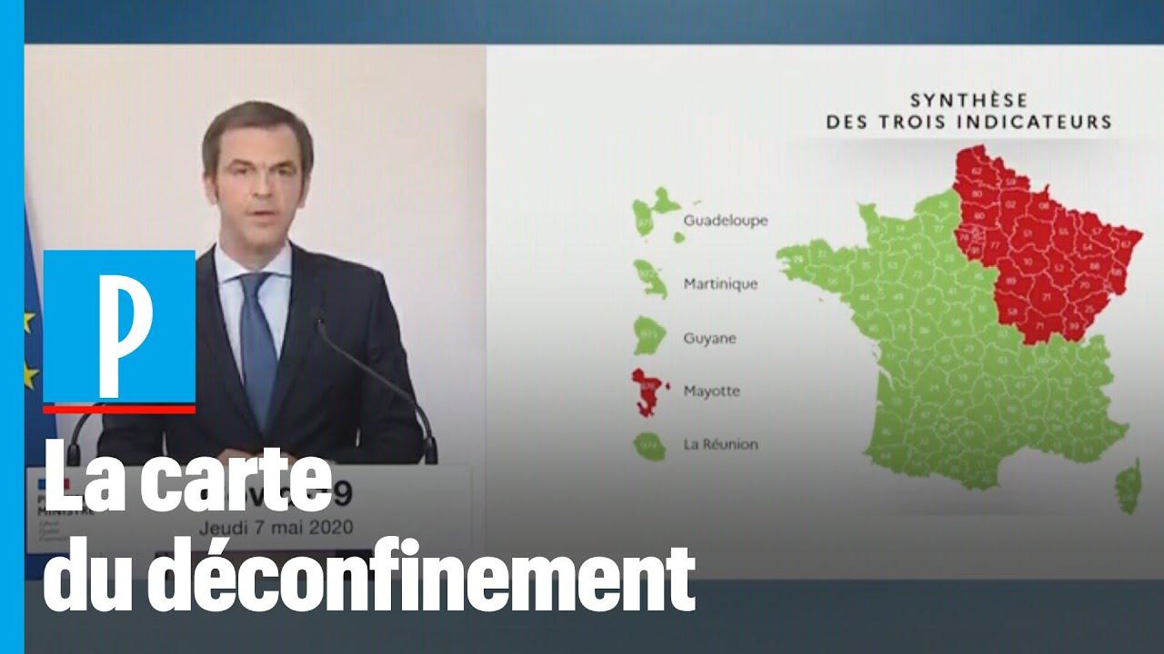 """La Nouvelle Carte Du Déconfinement : """"quatre Régions En Rouge, Dont  L'Île-De-France"""" encequiconcerne Nouvelle Carte Des Régions De France"""