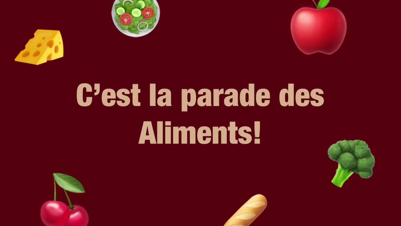 La Parade Des Aliments (Chanson Pour Enfants) intérieur Chanson Sur Les Fruits Et Légumes