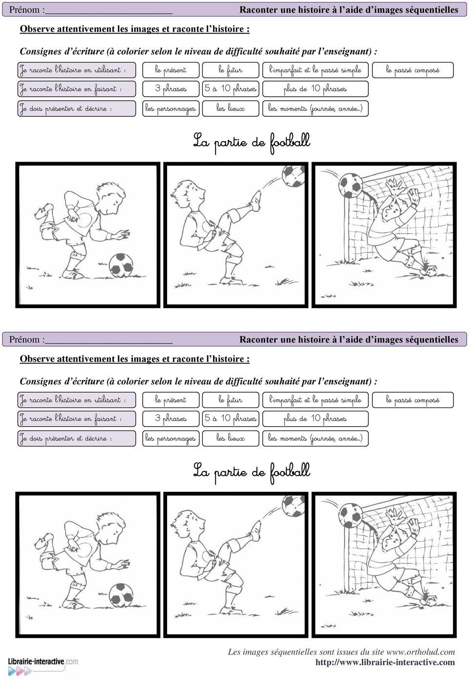 La Partie De Football - Pdf Free Download tout Images Séquentielles Maternelle