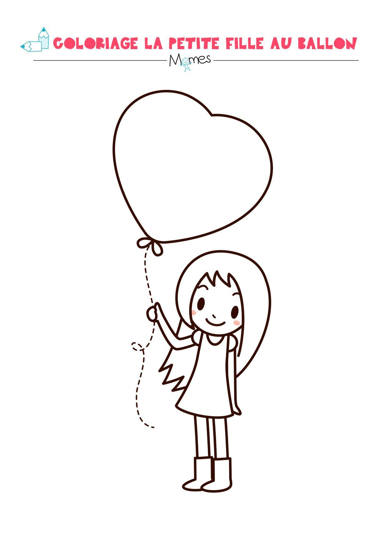 La Petite Fille Au Grand Coeur | Coloriage St Valentin tout Dessin Pour La Saint Valentin