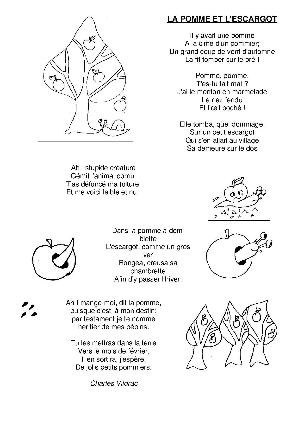 La Pomme Et L'escargot | Trognon Et Pepin, Comptines, Escargot serapportantà Dans La Nuit De L Hiver Chanson