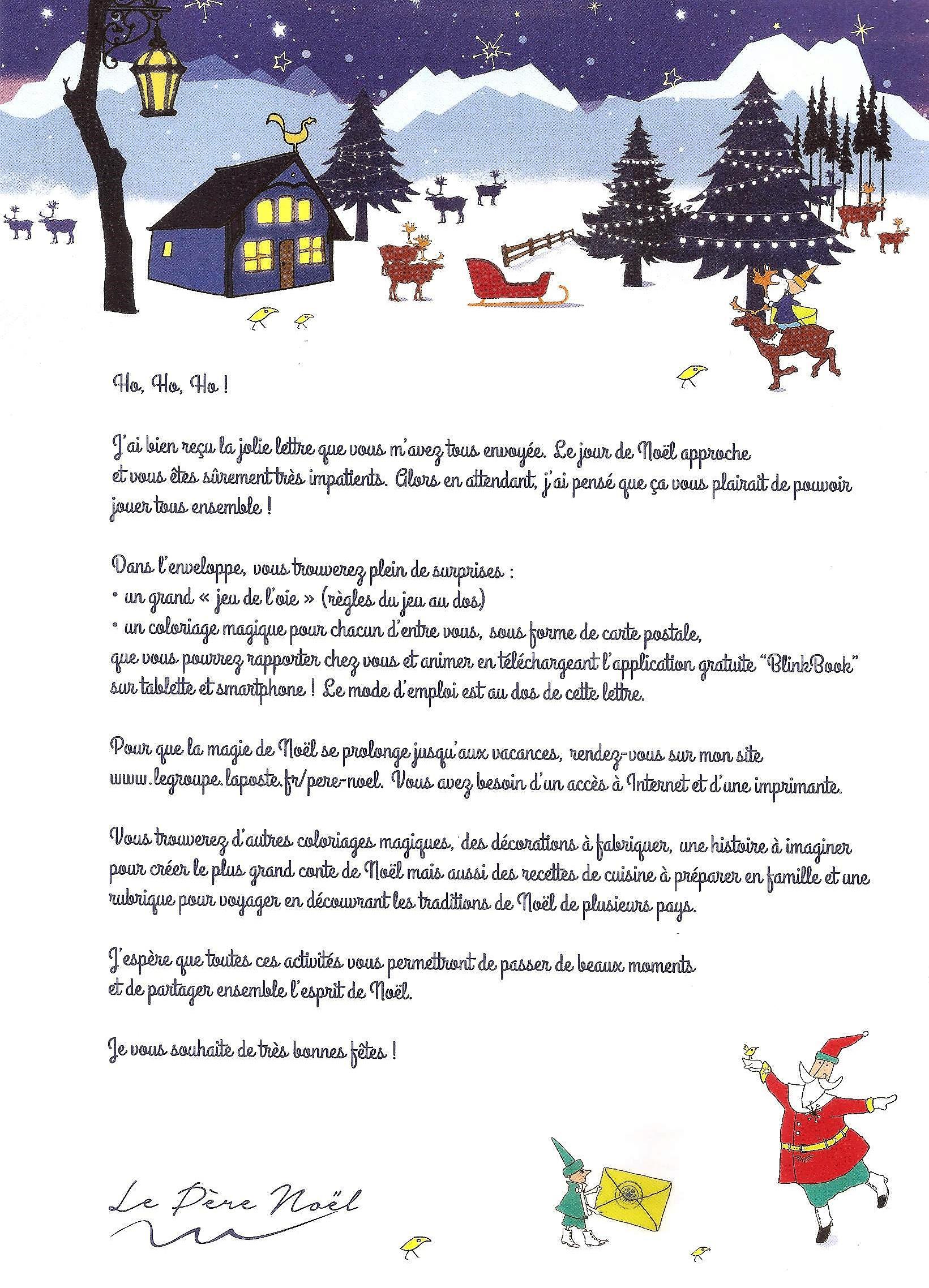 La Réponse Du Père Noël | La Vie Des Classes Et De L'école serapportantà Reponse Lettre Du Pere Noel A Imprimer